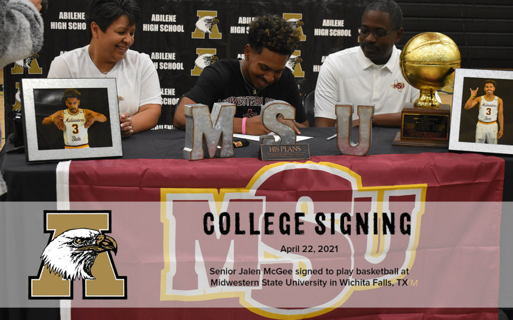 College Signing Jalen McGee