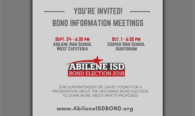 Community Bond Informational Meetings Set