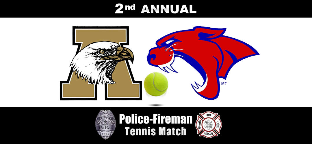 Police, Firefighters Join Eagles, Cougars for Tennis Fundraiser