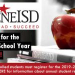 Annual Student Registration Open Now for 2019-2020 School Year