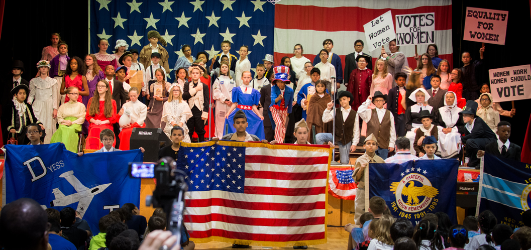 """Veterans, Military Honored at Dyess Elementary's """"I Love America Day"""""""