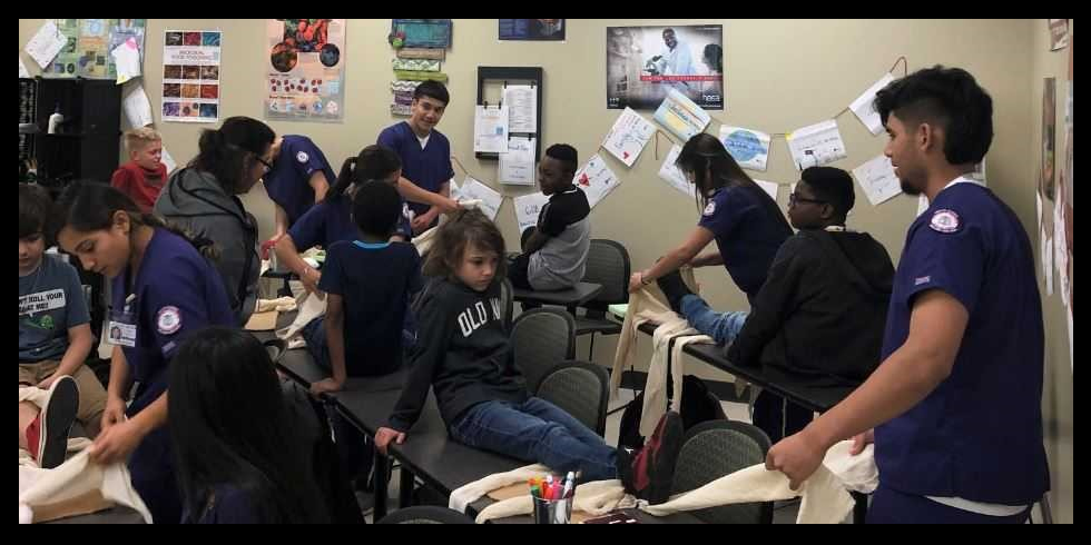 Center for Innovation Students Get Hands-On Math, Science Lesson at Holland Med High