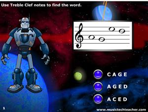 Word Warrior Treble Clef game