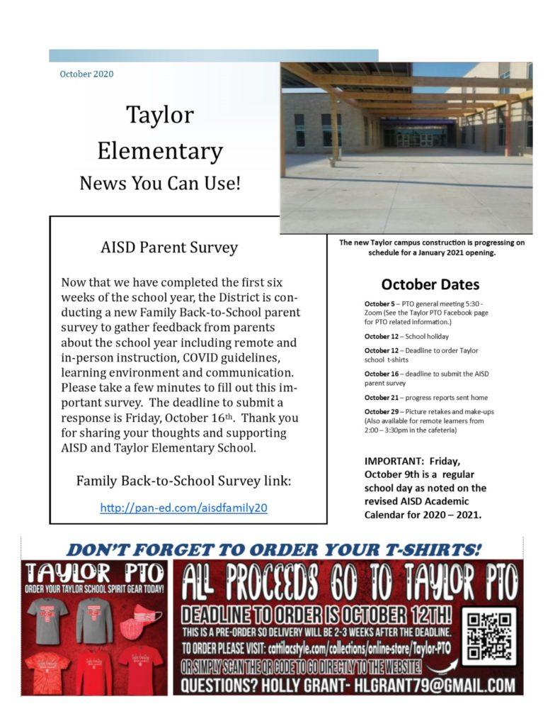 October 2020 Newletter