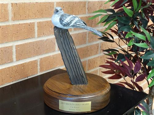 Mockingbird Award Statue