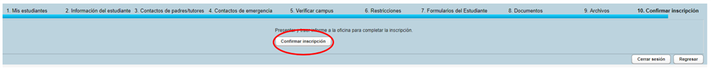 Confirmtion